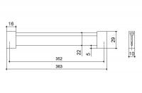 Ручка-скоба 352 мм