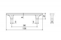 Ручка-скоба 96 мм 15200Z09600.32