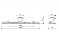 Ручка-кнопка с накладкой 192х37 мм