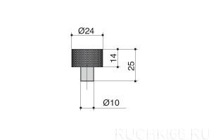 Ручка-кнопка d.24 мм
