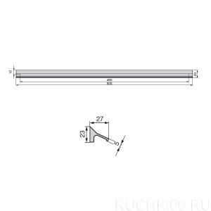 Ручка накладная L.500 мм