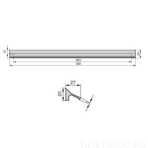 Ручка накладная L.340 мм