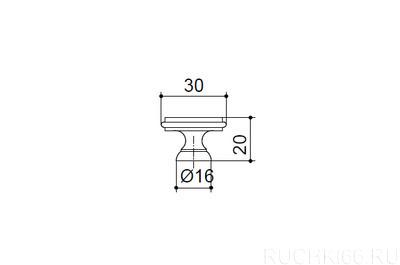 Ручка-кнопка d. 30 мм