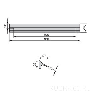 Ручка накладная L.180 мм