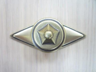 Ручка-кнопка d.35 с накладкой 35х83