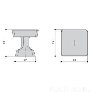 Ручка-кнопка 29х29 мм
